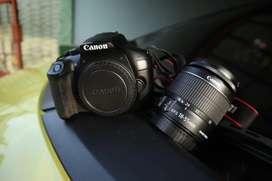 kamera canon 1300d + lensa kit lengkap box