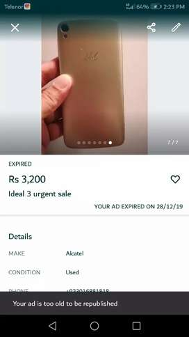 Ideal 3 for sale