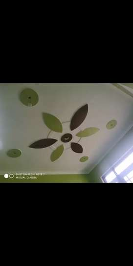 Pop design wall putty paint polish fall cieling work done