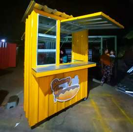Booth kontainer besi holow
