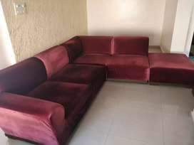 3 piece plush sofa to adorn your living room... as good as new