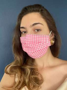 Wholesale mask 3 layer multi color cotton mask double coated