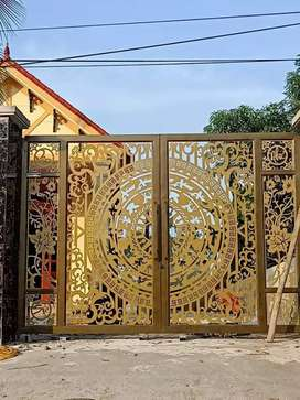 CNC Metal/iron gate,grills,doors,stair railing and jaffiry prodcut