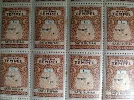 Materai Tempel Kuno Rp 1 (barang langka)