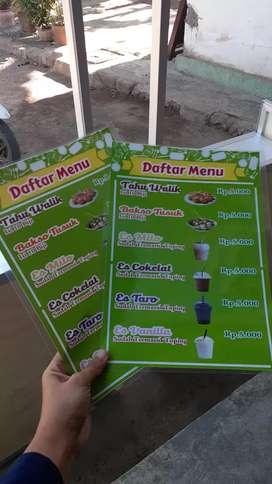 Daftar menu / daftar makanan / list menu / banner / menu makanan