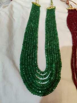7 lad Emrald moti necklace