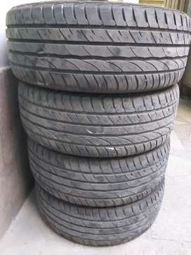 Slightly Use Tyres For Sale. SIZE: 215-55-16