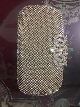 Bridal Purse colour silver and gold