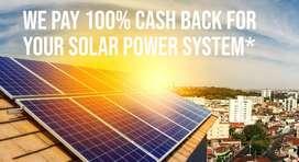 100% CASH BACK FOR OFF-GRID SOLAR POWER SYSTEM