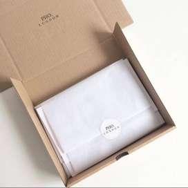 tempat pesan box kardus coklat bisa unt wadah kemeja souvenir elegant