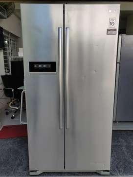 Lg 528 liters side by side inverter model with 1 year warranty