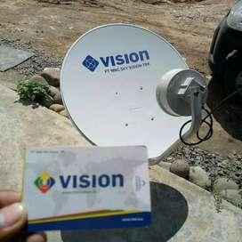 Parabola tv tahan hujan Indovision mncvision