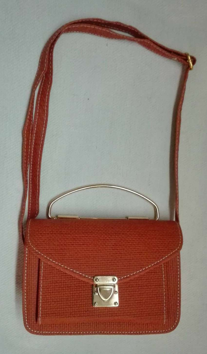 Cute Textured Leather Flap Bag 0
