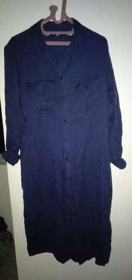 Dress UNIQLO semi jeans,masih bagus,uk L sampai XL bisa pakai,NEGO