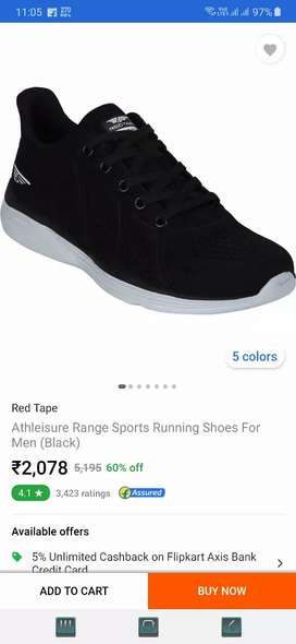 Red tape aports shoes