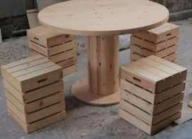 Meja kursi lemari gerobak kayu pinus