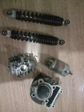 Blok head karburator shock belakang dinamo starter nouvo z copotan