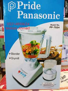Panasonic pride blender 2in1 Unbreakable Warrenty 5years