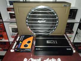 Power LM 4ch & subwoofer brabus dbel coil + box gril