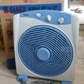 kipas angin meja/box/desk fan sanex 12inc SB 818 +timer (jantung acc)