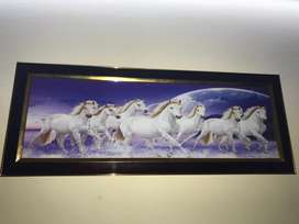 Lucky 7 horses painting