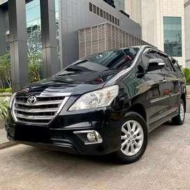 Toyota Kijang Innova V bensin Hitam 2014 Pajak Panjang 10-2020