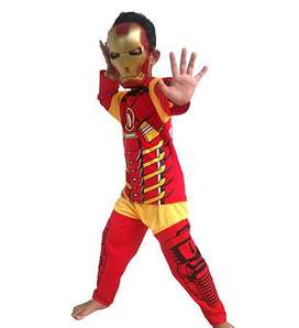 Baju Celana Topeng Super Hero Iron Man Anak