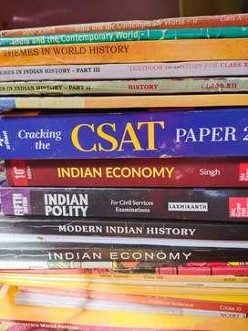 UPSC books set..unused.. NCERT, CSAT, Indian polity and economy