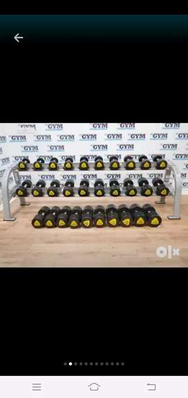 Gym manufacturing of dumbell plates rod in delhi dumbbell