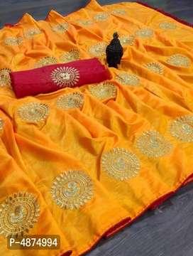 New Stylish Embroidered Art Silk Sarees d