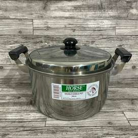 Double Handle Pot Horse Brand 30cm