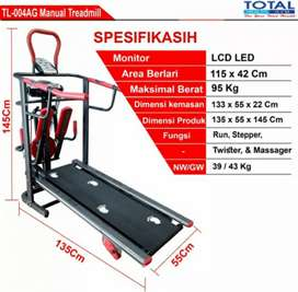 Alat fitnes# Manual Treadmil 6Fungsi
