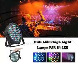 Lampu Sorot Par Light 54 Led RGBW/ Ritme Musix