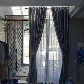 Gordyn Gorden Rumah Wallpaper Vitrase Tanpilan Minimalis Blinds, 173