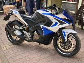 Bajaj Pulsar RS 200 ABS White And Blue