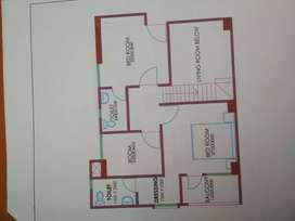 Duplex 3bhk deluxe premium construction 4bhk flat