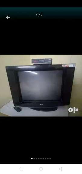 LG Flatiron TV with Airtel Dish HD. Good Condition.