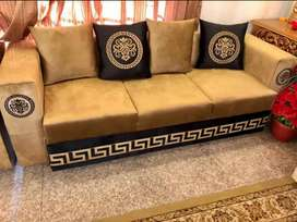 Sofa set velvet versace design and all home furniture bed sofa etc
