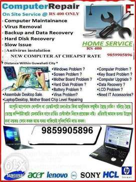 leptop desktop repair at ur Doorstep
