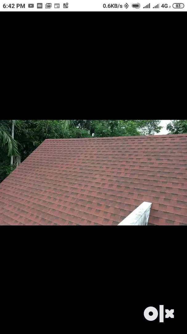 ROOF WORK WITH SHINGLES RS.99.SAINT GOBAIN & GAF 0
