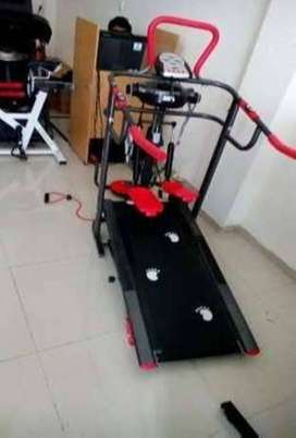 Treadmill manual 6 fungsi BA418 alat fitness