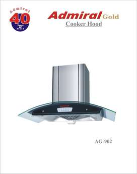 Admiral Curved Glass Exhaust Hood at factory price NEW