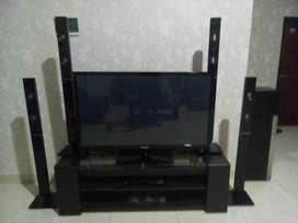 TV samsung LED 60 inch dan LG home theater & speaker