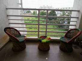 Balcony sitters 2 chair and a mini mudda