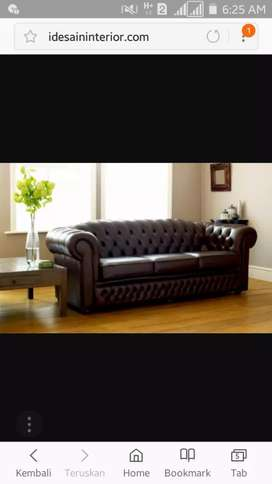 Dijual kursi kulit import