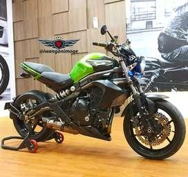 Kawasaki ER6N  Hijau fp plat B, pajak on, full modif