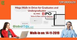 Mega Walk-in Drive for Voice and Non Voice process for MNC BPO clients