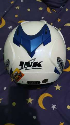 Helm INK T1 putih,double ficer
