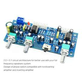 2.1 Channel Subwoofer Preamp Board Low Pass Filter Pre-Amp Amplifier B