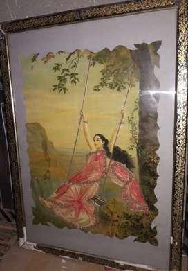 antique raja ravi verma prints with real zari work
